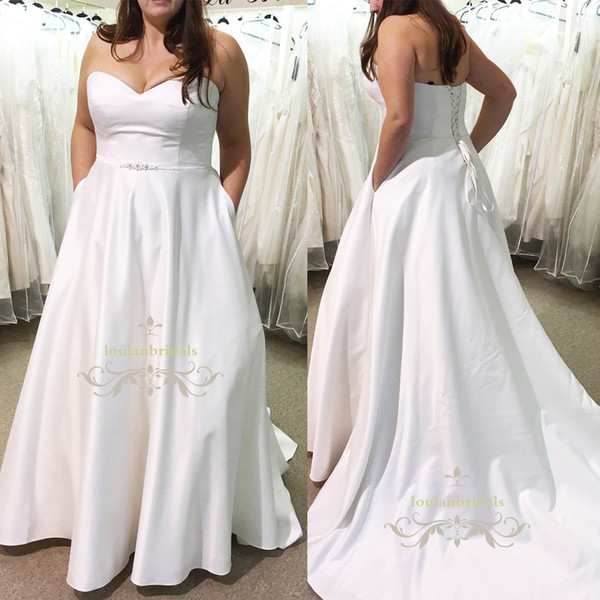 Платье белое с карманами