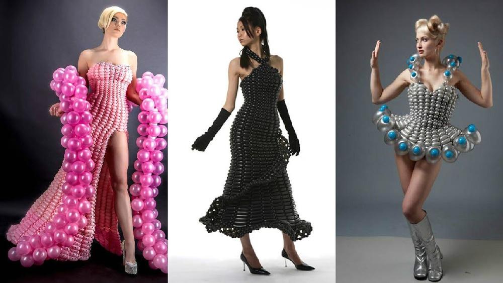 Платье из шаров