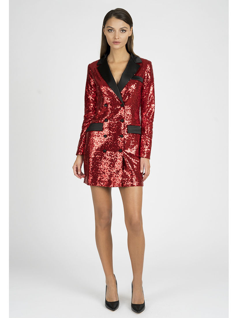 Платье-пиджак из пайеток