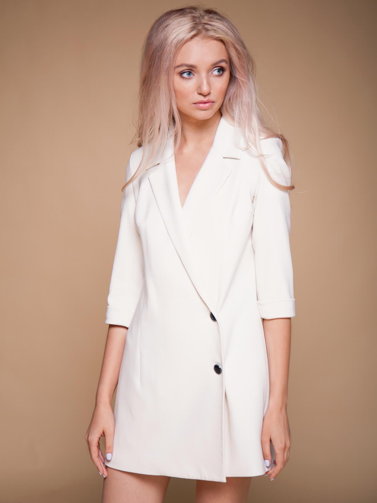 Платье-пиджак на запах