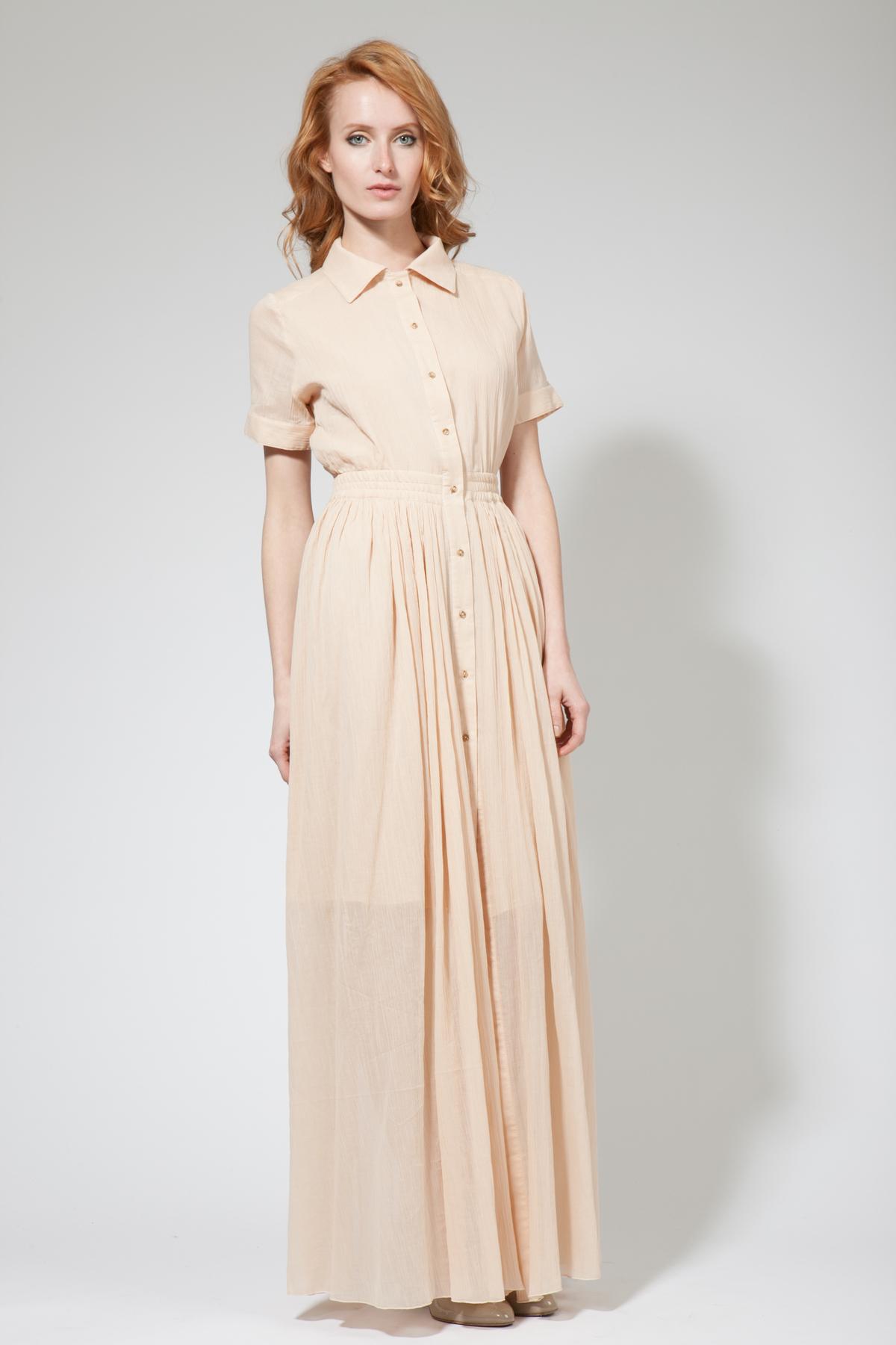Платье-рубашка длинное
