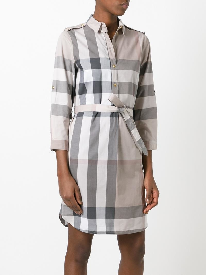 Платье-рубашка в клетку Burberry