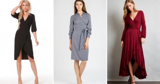Платье с запахом – кому подходит и с чем носить