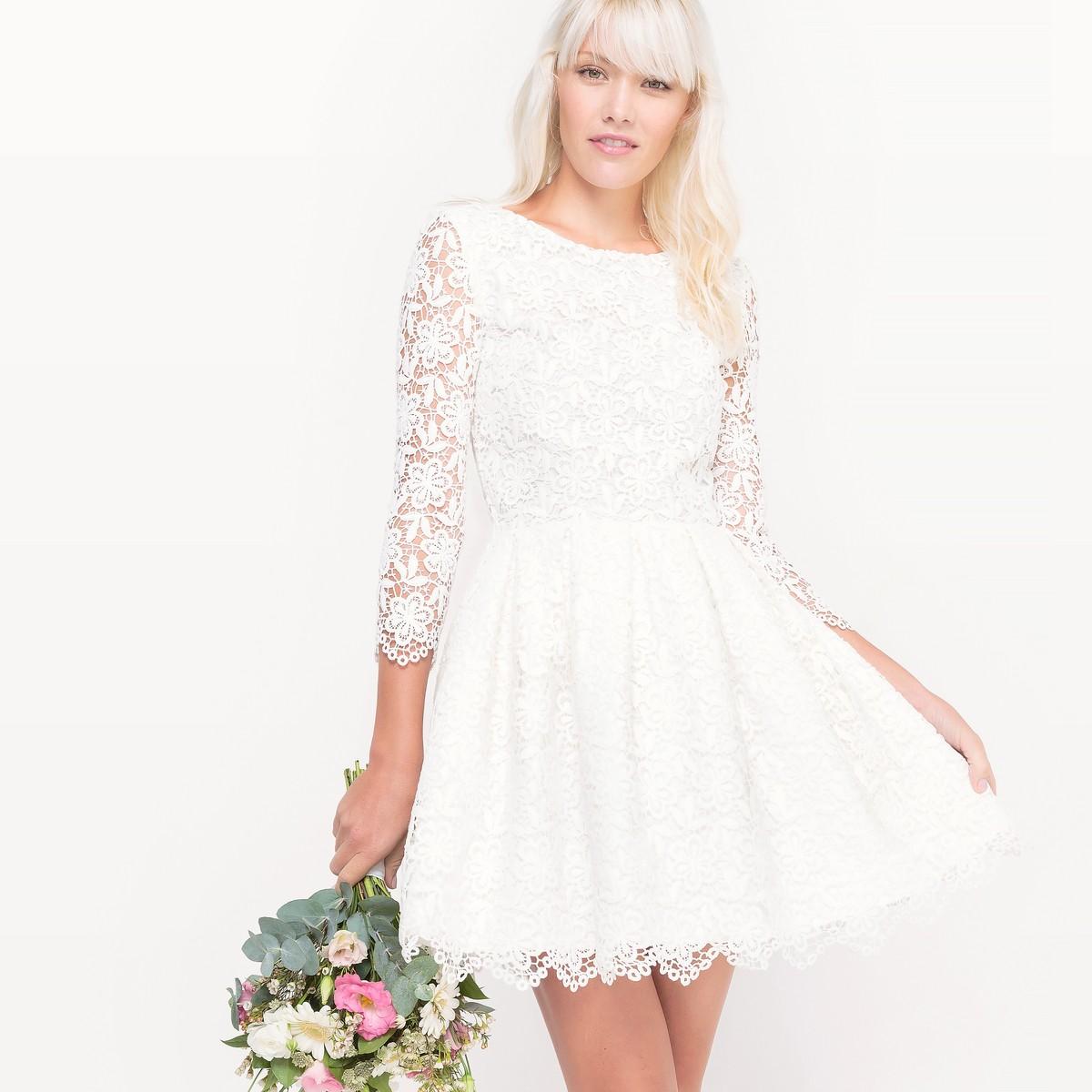 Платье свадебное короткое