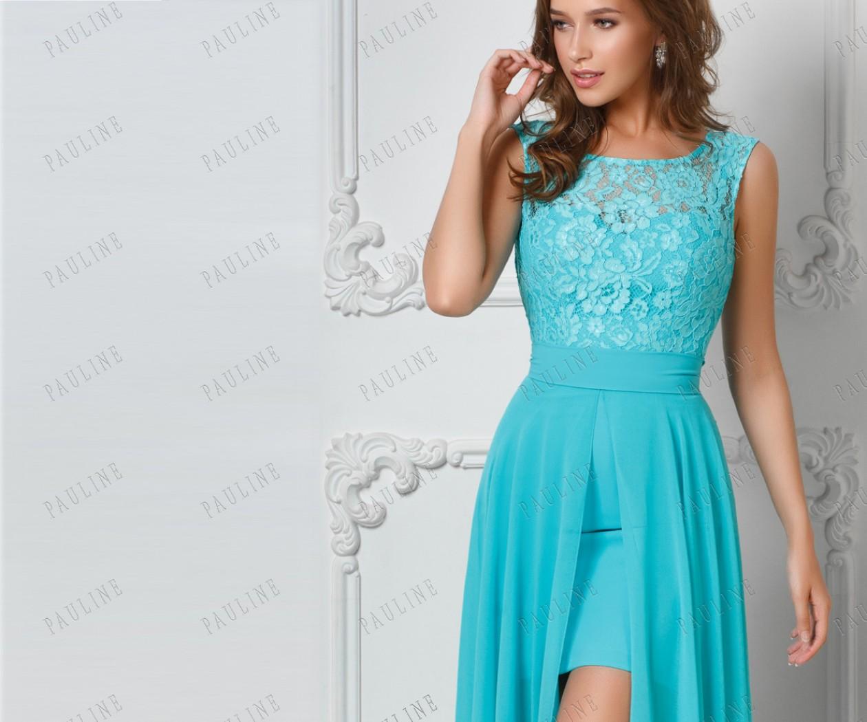 Платье трансформер Циан