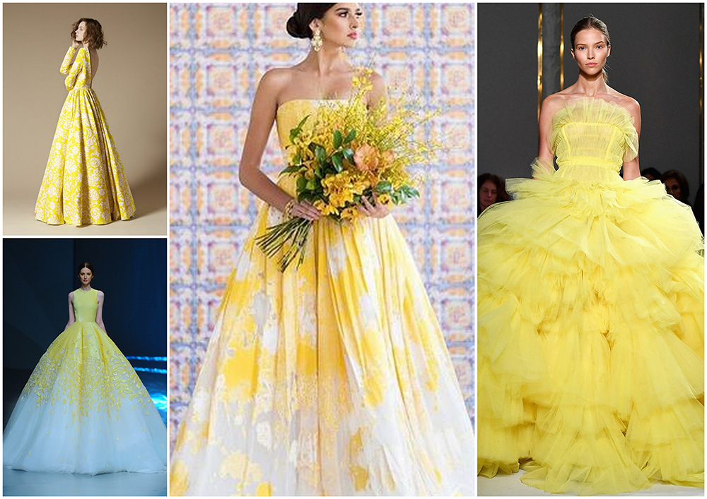 Платье в желтом цвете