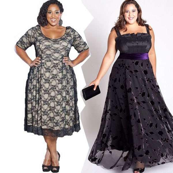 Платья для полных женщин выглядят красиво
