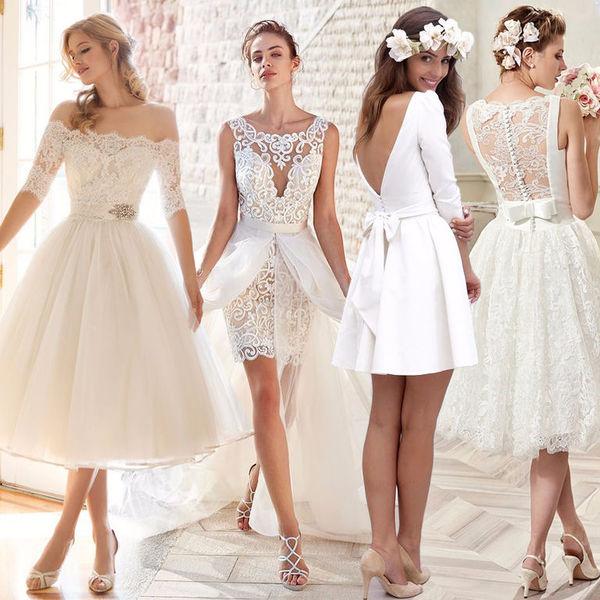 Платья для свадьбы короткие