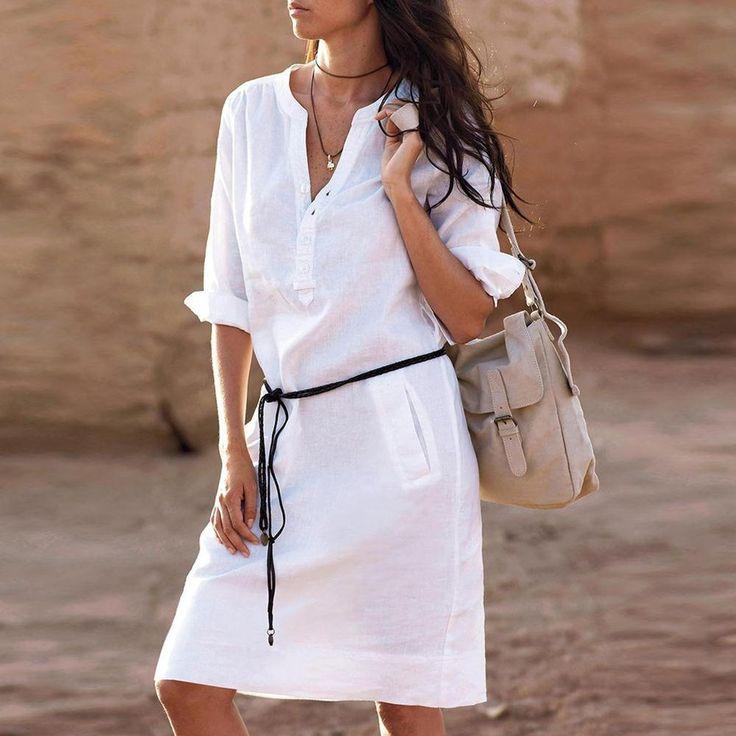 Пляжное платье рубашка