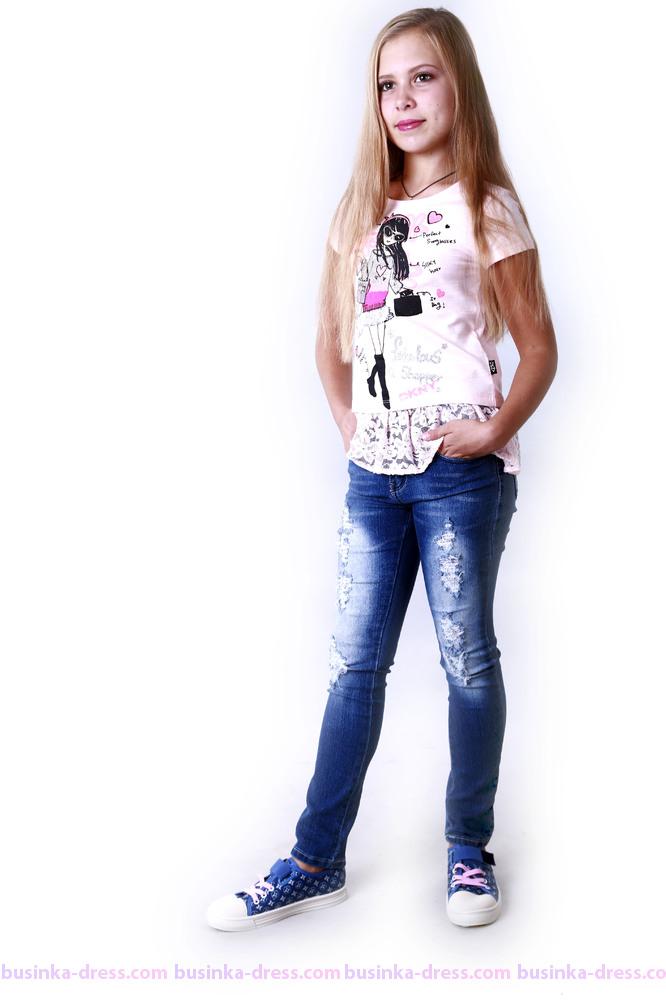Подростковые джинсы стрейч