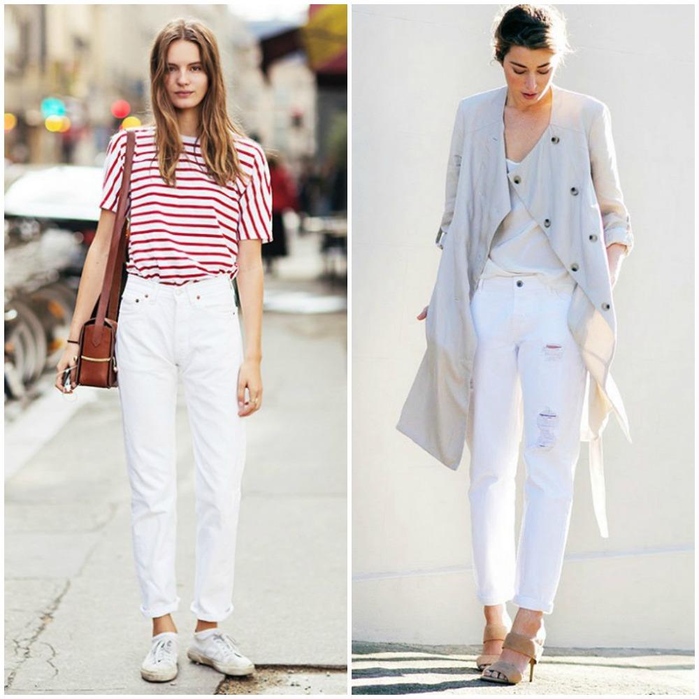 Пому подходят белые джинсы