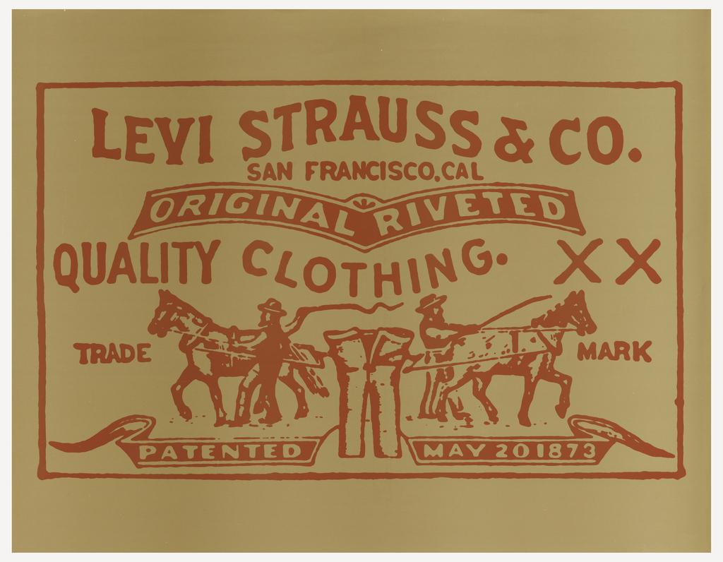 Постер первых джинсов