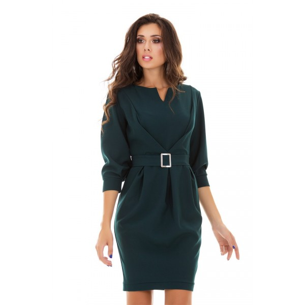 Повседневное зеленое платье