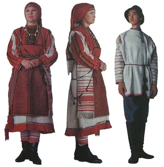 Практиная одежда северных удмуртов