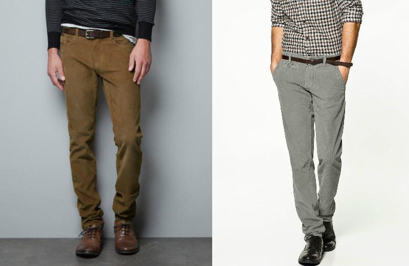 Приталенные вельветовые брюки