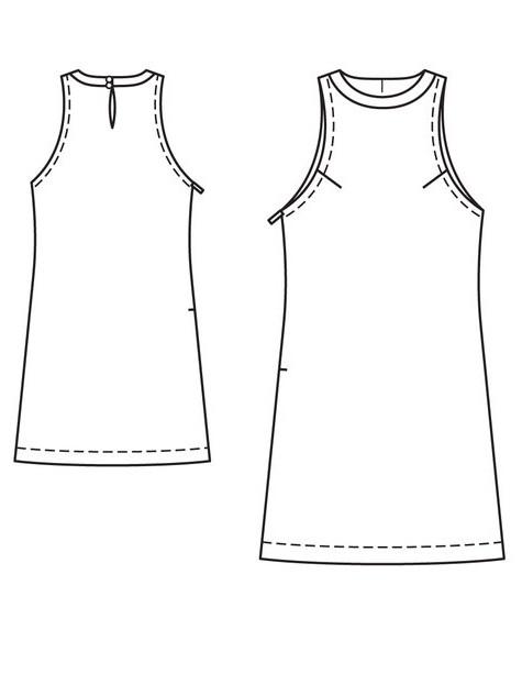 Простая выкройка летнего платья