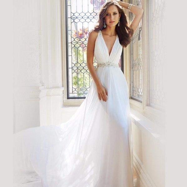 Простой фасон платья для свадьбы
