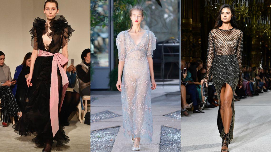 Прозрачные платья