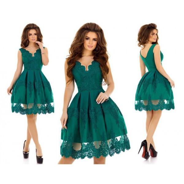 Пышная юбка с кружевом