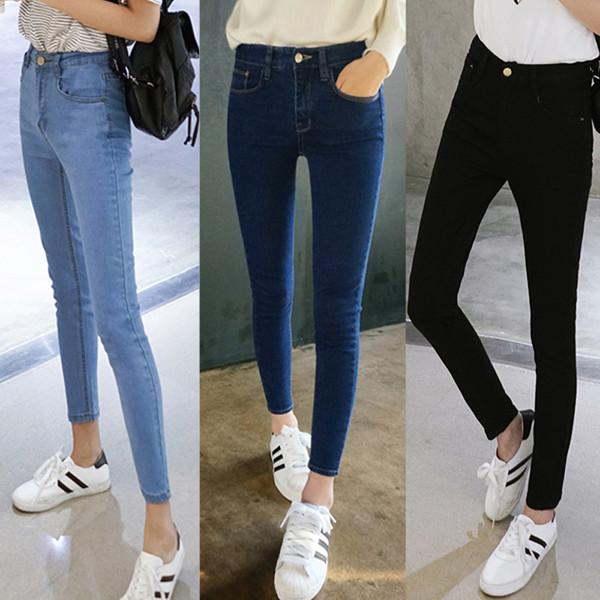 Разные цвета зауженных джинсов