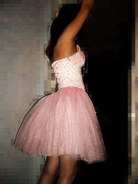 Розовое платье пачка