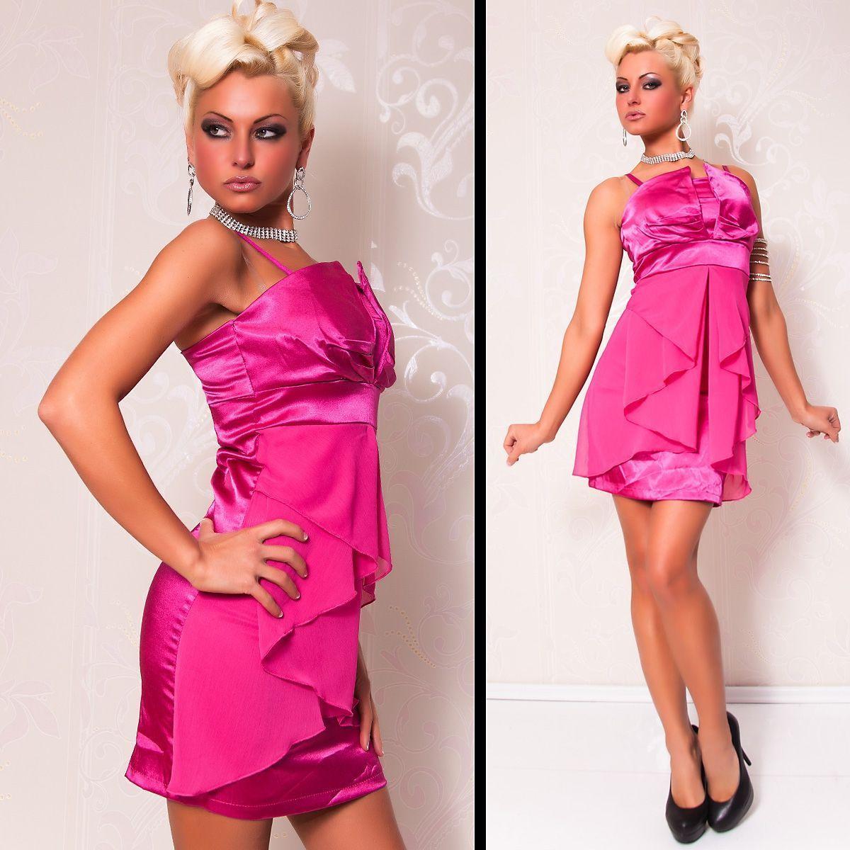 Розовое платье с шифоном