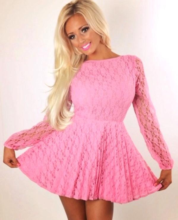 Розовый макияж для девушки