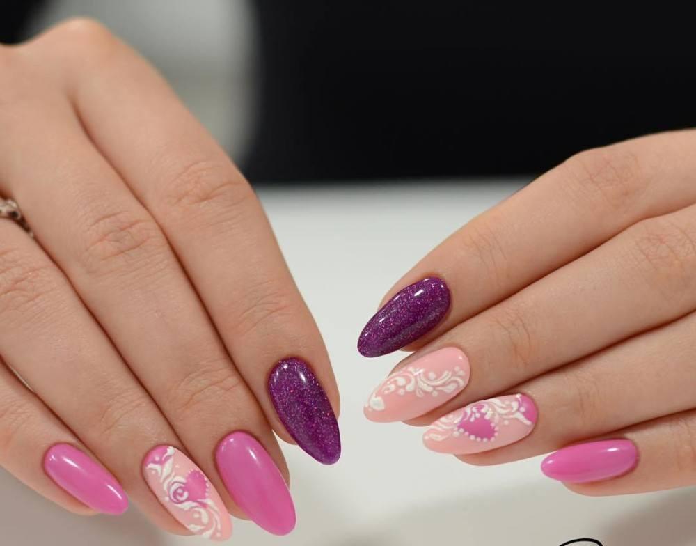 Розовый с фиолетовым