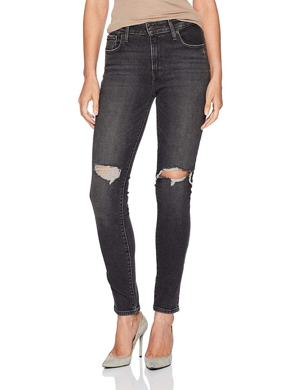 Рваные скинни джинсы