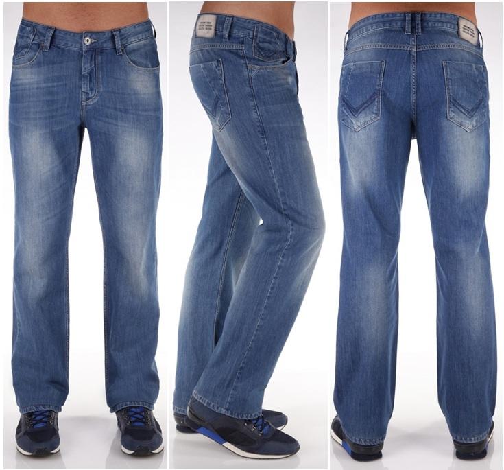 Широкие современные джинсы