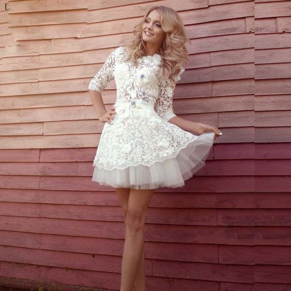 Самые модные и самые красивые короткие свадебные платья
