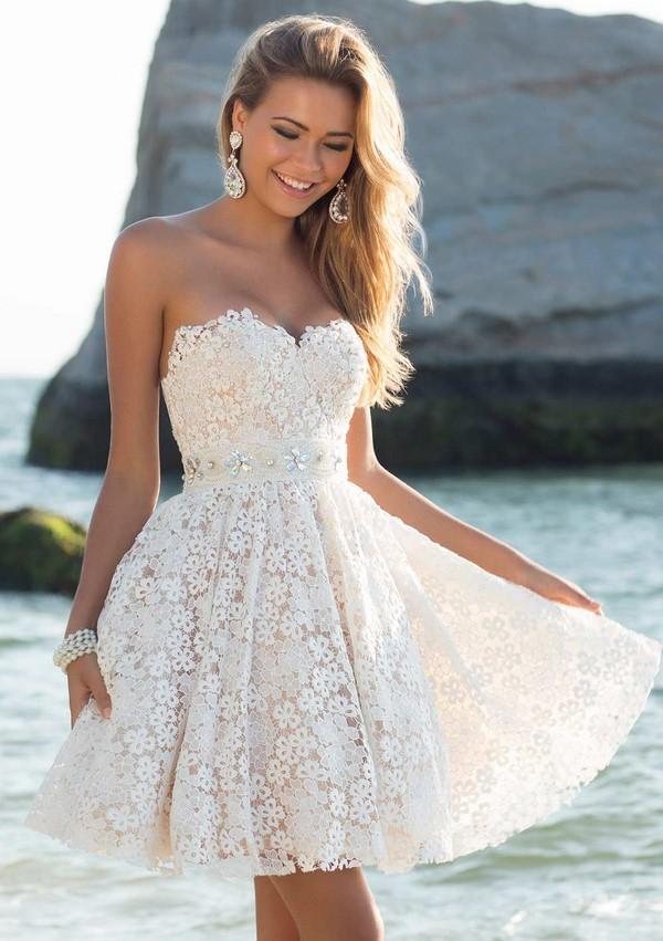 Самые модные короткие свадебные платья