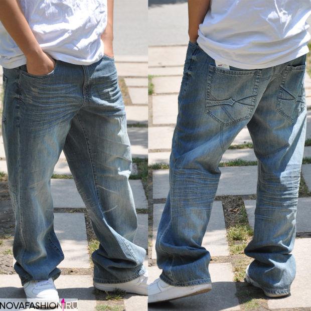 Серо-синие штаны