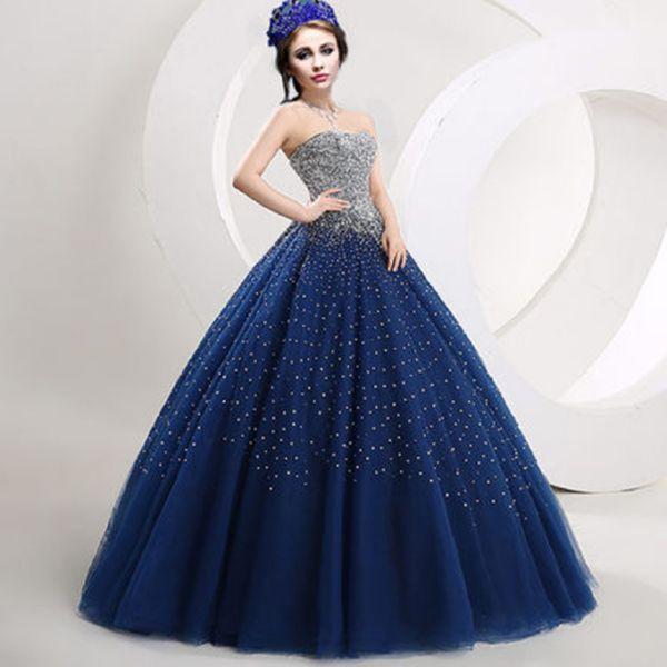 Синее платье для свадьбы