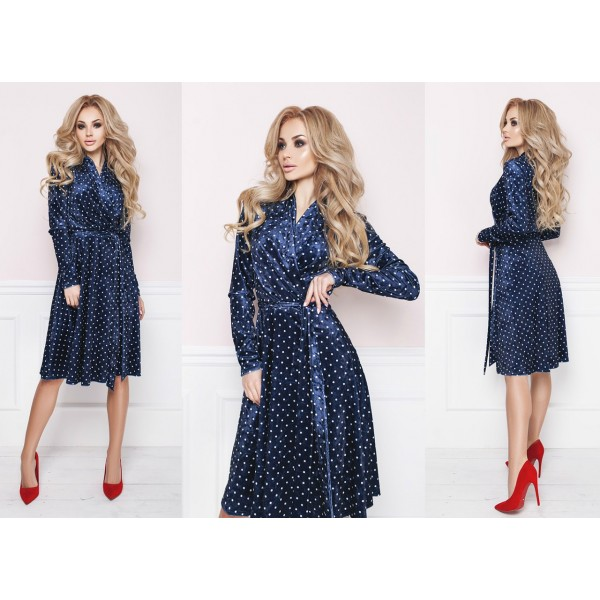 Синий цвет современного платья