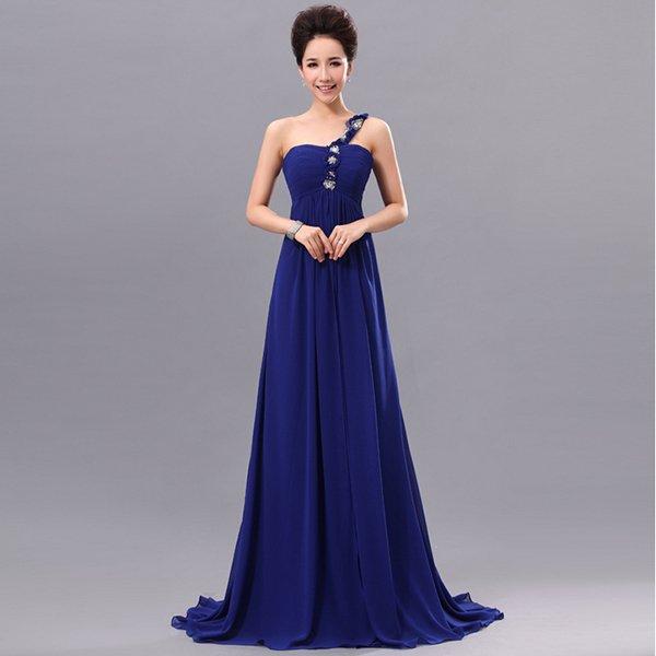 Синий цвет вечерней моды