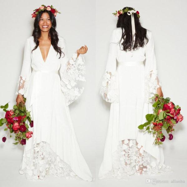 Со свадебным образом в стиле прованс гармонично сочетаются плетеные украшения из шнурков
