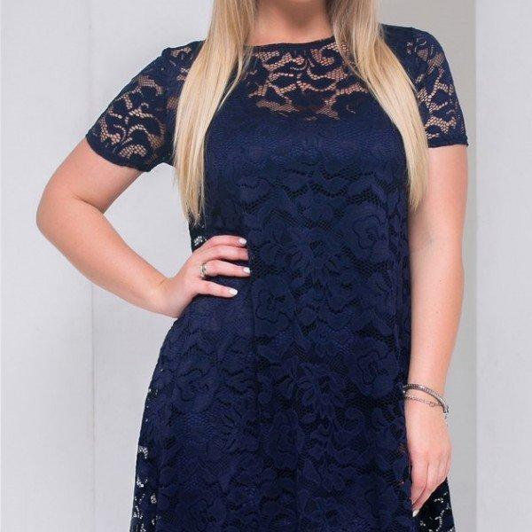 Стильное платье большого размер