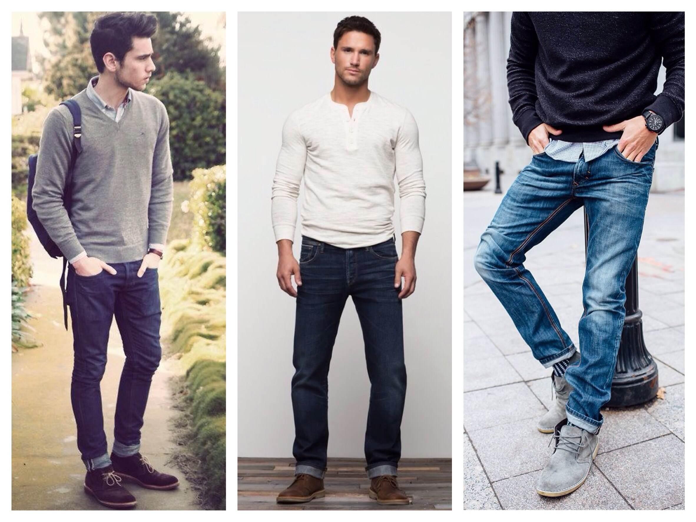 Стильный look с джинсами классического кроя