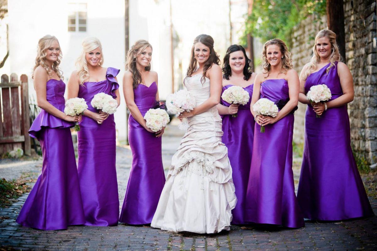Свадебное фиолетовое оформление