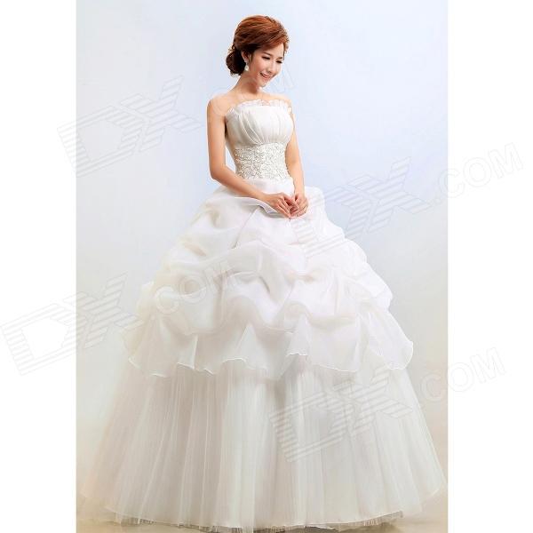 Свадебное платье без бретелек для женщин