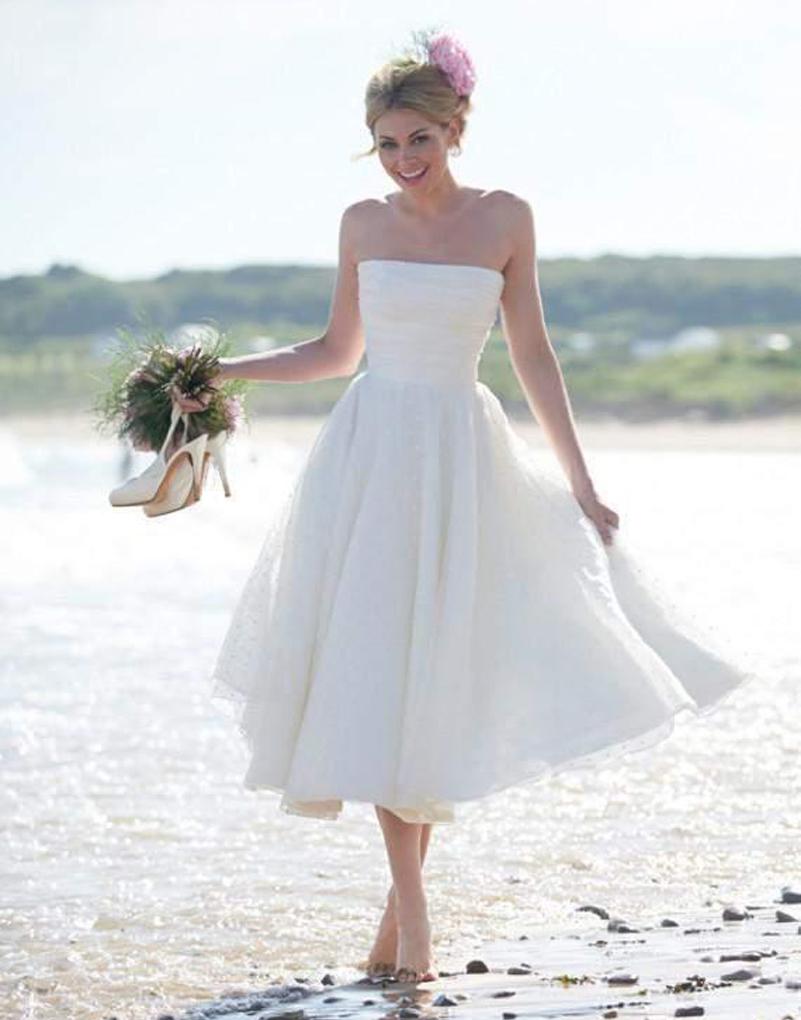 Свадебное платье в пляжном стиле