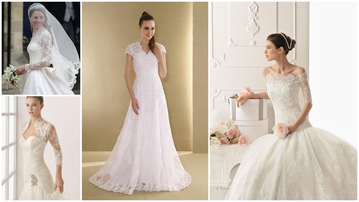 Свадебные кружевные платья - обзор модных тенденций