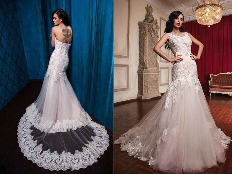Свадебные платья из ткани сетка
