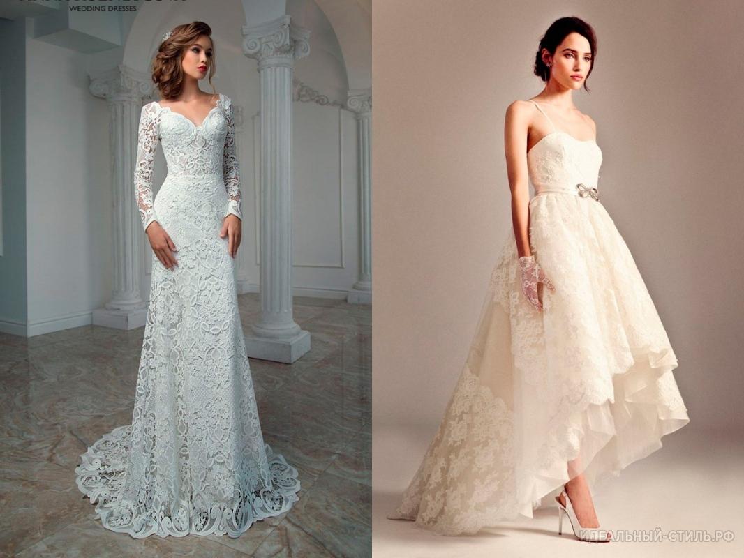Свадебные платья с гипюровыми вставками