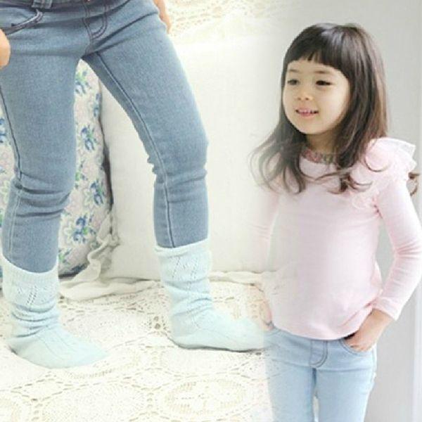 Светлые элатичные детские джинсы