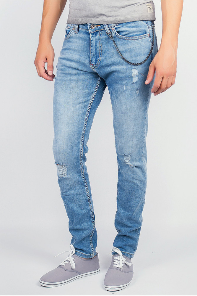 Светлые современные джинсы