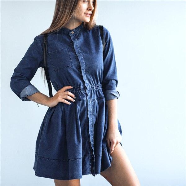 Свободное короткое платье для лета