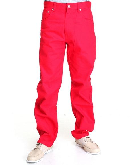 Свободные красные джинсы мужские
