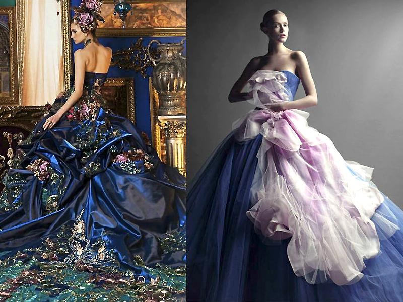 Цветные свадебные платья - для свадьбы в необычном стиле